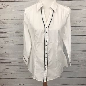 Larry Levine Signature Button Up Blouse Size PXL